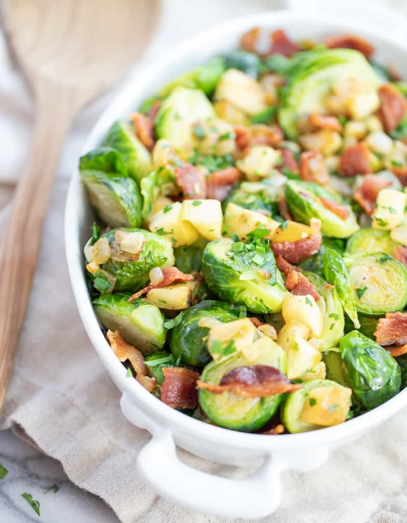 Brussels Sprouts W/ Apples And Bacon